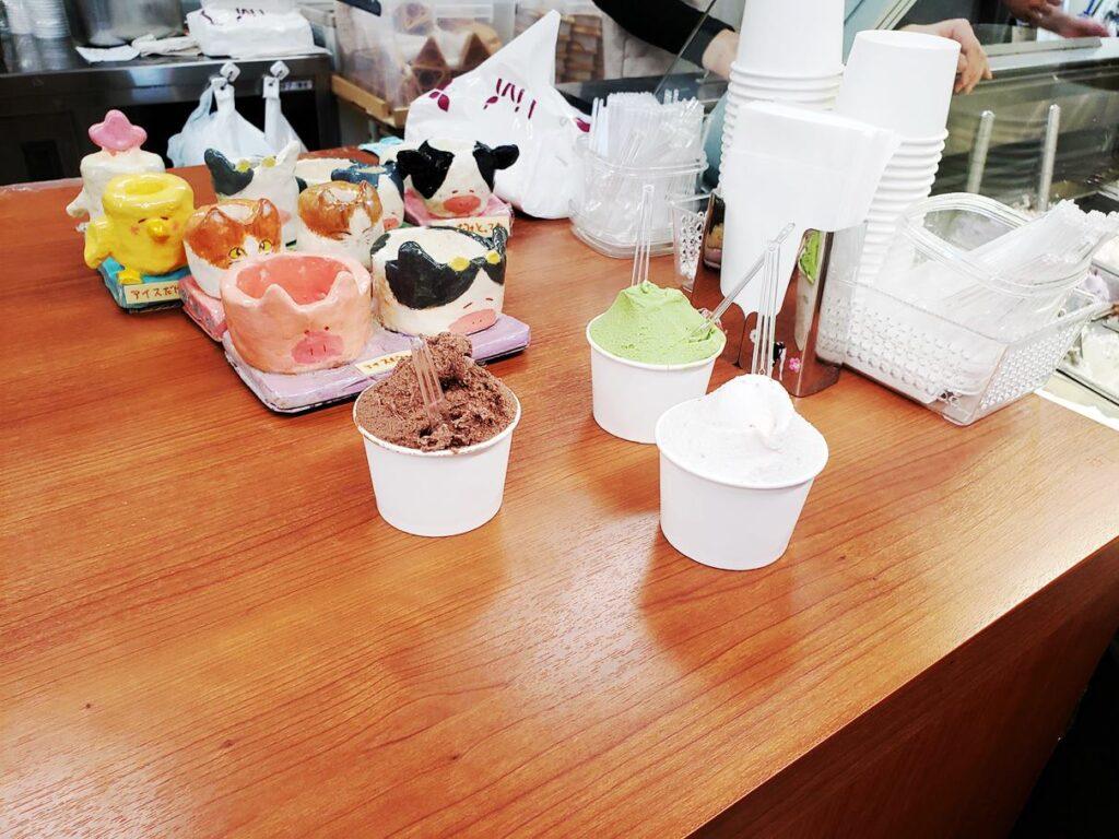 榎本牧場のジェラートアイスは美味!