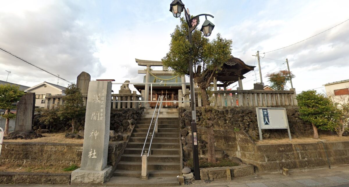 浅間神社の初山(幸手市)